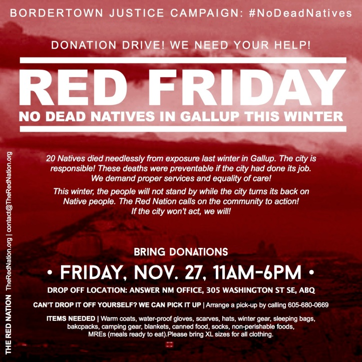 2015-11-27 - the red nation - red friday - square flyer
