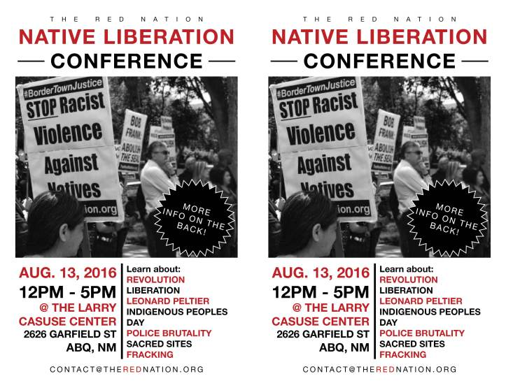 2016-8-13 - trn - native liberation conference - flyer
